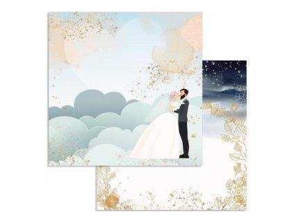 Oboustranný papír na scrapbook - Svatba