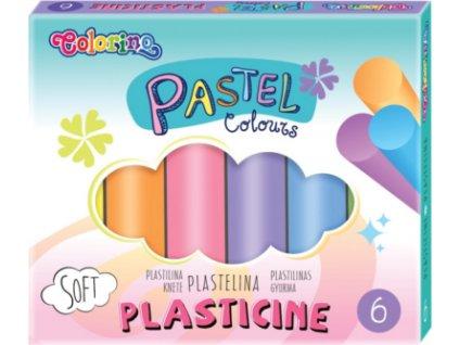 Pastel modelovací hmota, 6 barev COLORINO