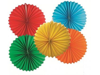 Lampion kulatý 25 cm mix (žlutý, oranžový, zelený, modrý, červený)