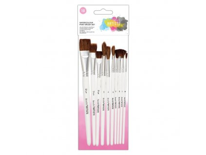 docrafts watercolour paint brush set 10pk doa 5510