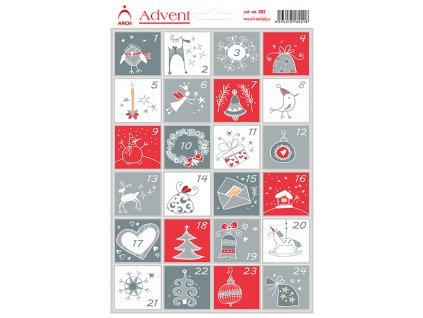samolepky na adventni kalendar