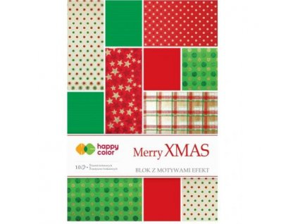 Papíry A4 10ks s vánočním potiskem Merry XMAS
