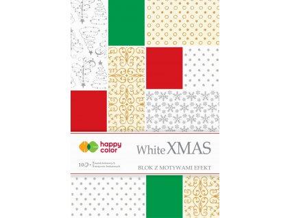 Papíry A4 10ks s vánočním potiskem White XMAS