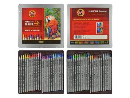 Souprava tužek pastelových akvarelových v laku 8786 48