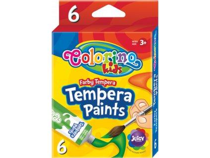 Barvy temperové  Colorino 12ml v tubě  6ks