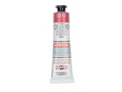 Barva acrylová KOH-I-NOOR 40 ml tm.červená 0310