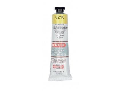 Barva acrylová KOH-I-NOOR 40 ml žlutá 0210