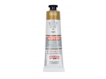Barva acrylová KOH-I-NOOR 40 ml okr 0600