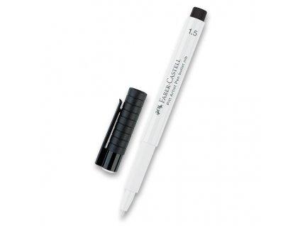 Popisovač F-C Pitt Artist Pen 1,5 bullet nib,bílá