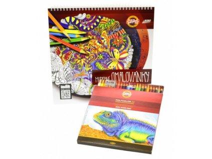 Hudební omalovánky s pastelkami 290x290mm, 24 listů