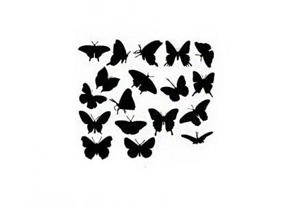 Šablona plastová 14,5x14,5cm motýlci