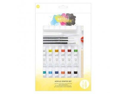 Akrylové barvy ARTISTE - starter kit (24ks)
