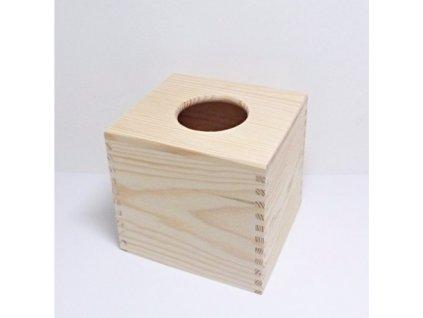 drevena krabicka na kapesniky ctvercova typ 1 z masivu