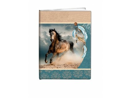 Památník A5 13x18cm čistý Indian horse