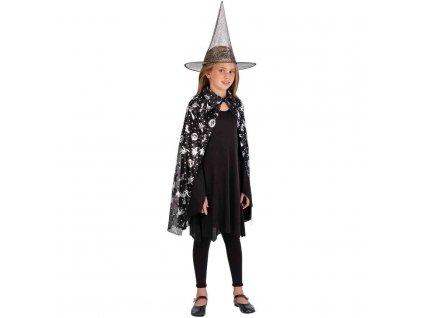Čarodějnický plášť s kloboukem, dětský
