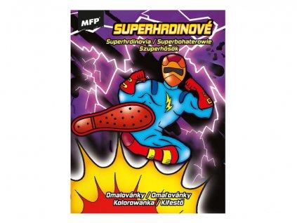 Omalovánky A4 Superhrdinové