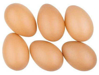 Vajíčka plastová 8 cm bez šňůrky, 6 ks v sáčku, hnědá