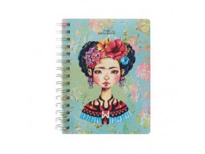 Skicák kroužkový Frida (80g/m2, 80 listů) 15x20cm