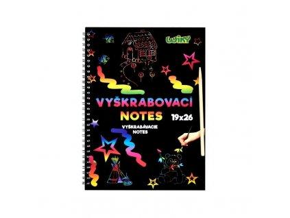 vyskrabovaci notes 19x26 cm wiky 892007