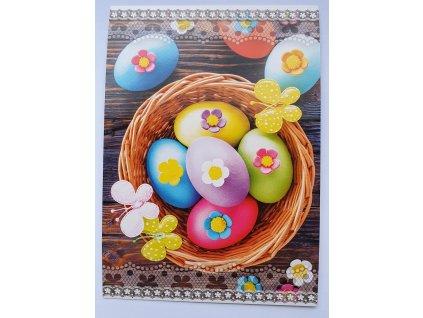 Pohlednice velikonoce košíček vajíček STIL 160018