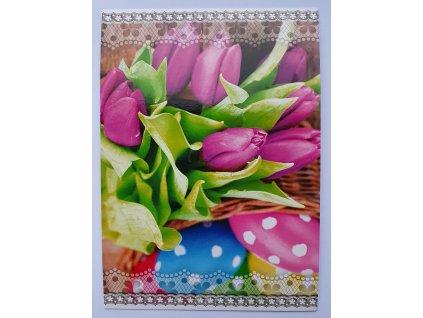 Pohlednice velikonoce tulipán STIL 160018