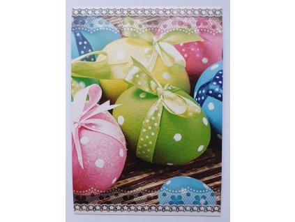 Pohlednice velikonoce vajíčko zelené s mašlí STIL 160018