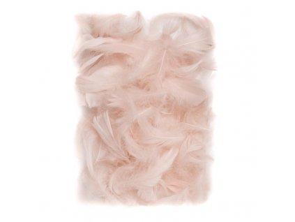 Peříčka 5 - 1 2 cm, 10 gramů tělové barvě