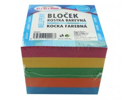 Bloček KOSTKA barevná 85 x 85 x 80mm, nelepená LUMA