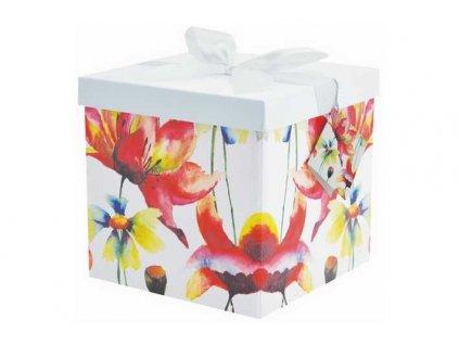 krabicka s květinami