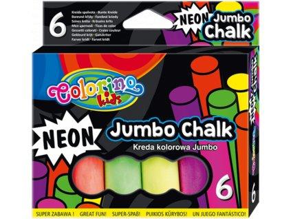 Křídy Colorino chodníkové 6ks neon