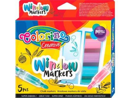 colorino popisovace na sklo kridove 5 barev 5 ks