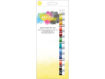 Barvy akrylové DOA 551000 12ks 12ml