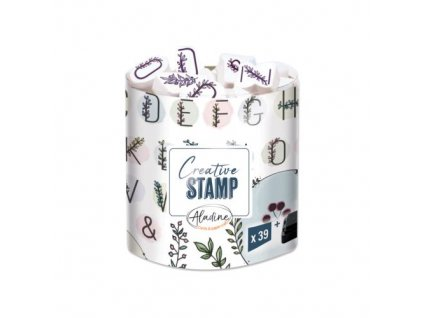 razitka creative stamp kvetinova abeceda a venecky
