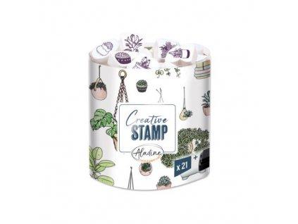 razitka creative stamp rostliny