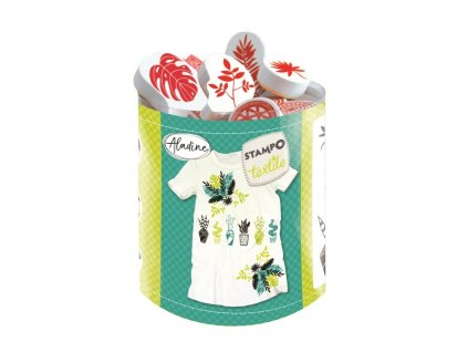 Razítka Aladine StampoTextile, Rostliny, 10 ks