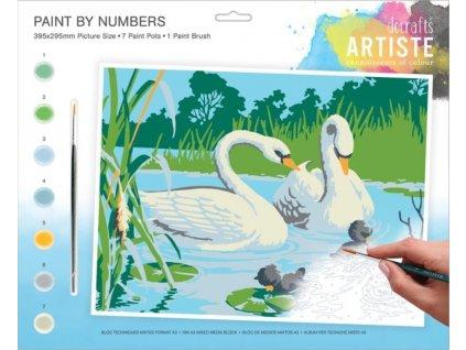 Malování podle čísel DOA 550705 - Labutě