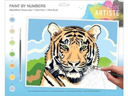 Malování podle čísel DOA 550706 - Tygr