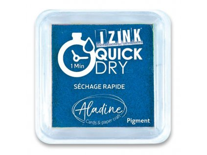 Razítkovací polštářek, ALADINE, Quick Dy, modrý