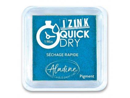 Razítkovací polštářek, ALADINE, Quick Dy, tyrkys