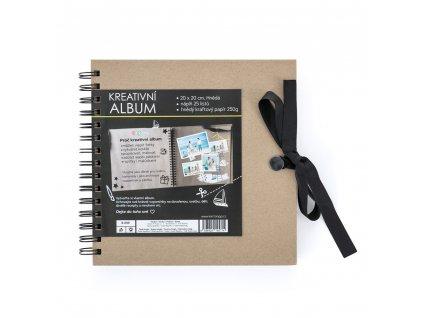 scrapbookove album kraft
