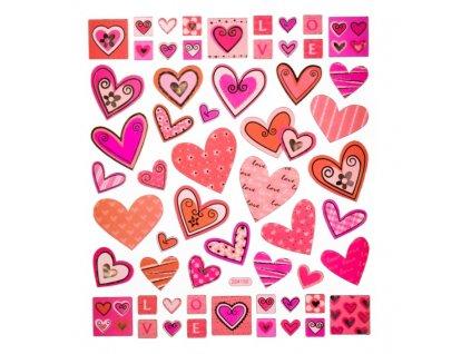 samolepky srdce