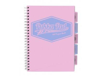 Pukka Pad projektový blok Pastel A4, papír 80g, 100 listů, růžový