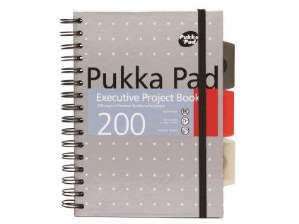 Pukka Pad projektový blok Metallic Executive A5, papír 80g, 100 listů, šedý