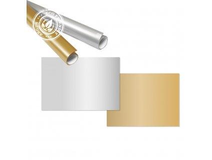 Balící papír, role, stříbrný/zlatý