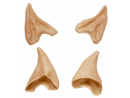 Elfí uši béžové latexové