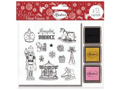 Razítka Aladine Stampo Noël, Vůně Vánoc, 13 ks