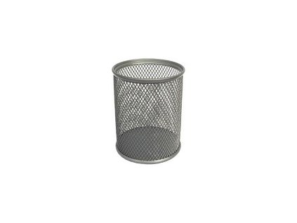 Drátěný stojánek na tužky kulatý, stříbrný