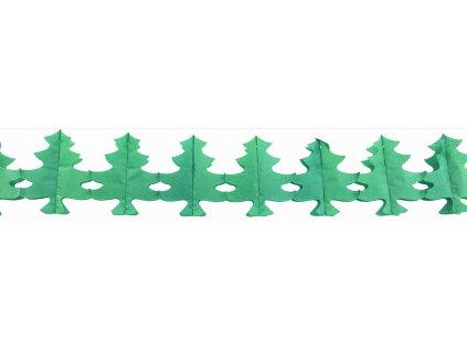 Girlanda papírová 300x17,5 cm-stromky