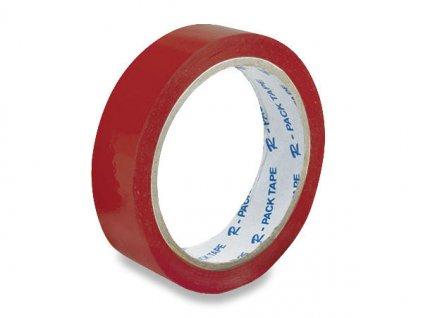 Lepící páska 25 x 66 mm červená
