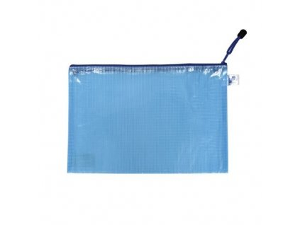 Obálka A4 síťovaná se zipem modrá